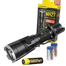 NiteCore MH27 Rechargeable LED Flashlight w/ RGB Light, 18650 Batt. - 1000 Lumen