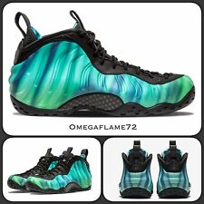 Sz 7 Nike Foamposite Black Green Glow 840559-001 Northern Lights EUR 41 USA 8
