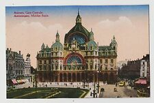 Antwerp (Anvers),Belgium,Gare Centrale,c.1909