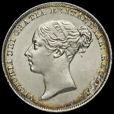More details for 1846 queen victoria young head silver sixpence, scarce