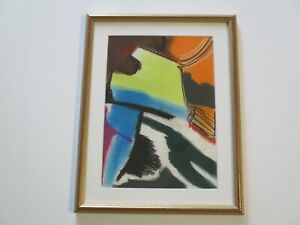 SMALL GEM DRAWING 1970'S COLORFUL POP CUBIST EXPRESSIONISM  MODERNISM ABSTRACT