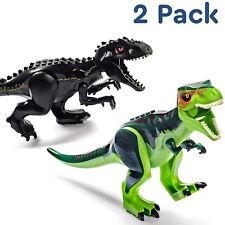 2pcs Indominus Rex Xxl Full Size Dinosaur Figure Blocks Fit Toys Green Black