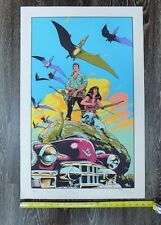 """Cadillacs and Dinosaurs Mark Schultz 19"""" by 30"""" Serigraph LE #146/250 F"""