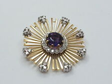 BROSCHE GOLD 750 DIAMANTEN 1,20 CT AMETHYST JG 9710001020011