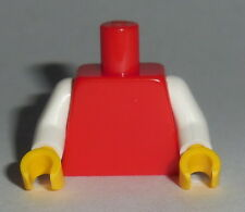 TORSO Lego 2 Tone Plain Red Torso White Arms Yellow hands NEW Genuine Lego