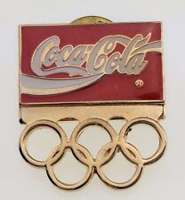 Coca-Cola 1992 Olympics Barcelona Pin Rings Logo USA