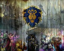 World of Warcraft WOW Alliance Wall Poster Print Art Decoration 16x20 Inches.