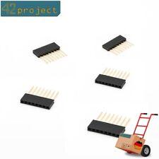 5x Stapelbare Buchsenleiste Stiftleiste 8P 2,54 mm pin-header für Arduino UNO