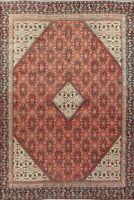 Traditional SEMI ANTIQUE Geometric Mahal Area Rug Handmade Oriental Carpet 9x12