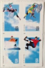 EXTREME SPORTS - BLOCK OF FOUR 33 cent  STAMPS - 1999 USPS