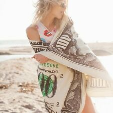 Cotton US $100 Dollars Money Cash Banknote Hamam Sauna Bath Beach Towel 75*145cm