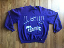 LSU Tigers Sweatshirt Vintage Mens XL Russell Athletic Purple Preowned