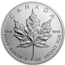 2013 - 1 oz Canadian Silver Maple Leaf Coin - One Troy oz .9999 Bullion