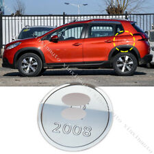 Stainless Steel Gas/Fuel Door Cap Cover Molding Car Trim 14-18 For Peugeot 2008