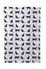 Toalla de Algodón de Gato Gatos Negros Diseño Teatowel