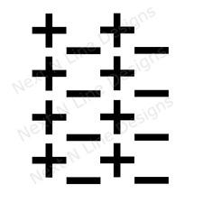 Plus Minus Pattern Stencil, Plus, Minus, Wall Stencil ,Mylar Stencil, Reusable