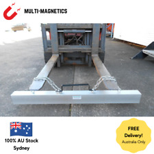 Magnetic Forklift Sweeper 48inch With Sleeves Swarf and Metal Fragment Removal