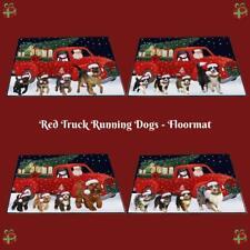 Christmas Honk Honk Red Truck Dogs Cats Photo Floormat Doormat
