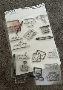 Gina K Designs CRAFTY NOTES Clear Stamps