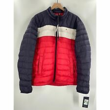 Tommy Hilfiger Mens Color Block Down Puffer Jacket  Full...