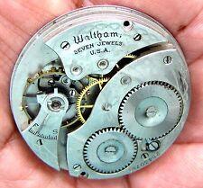 Antique 12 Size Pocket Watch Movement  Waltham Complete Model 1894