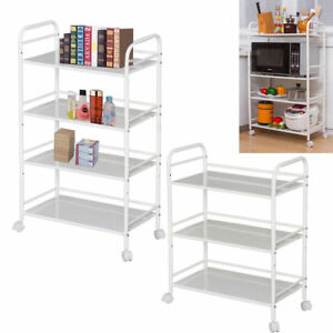 Trolley 3/4/5 Tiers Storage Rack Cart for Hair Salons Beauty Storage Movable uk