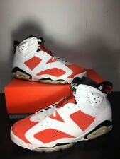 Nike Air Jordan 6 VI Retro White Orange Be Like Mike Size 13. 384664-145 1 2 3