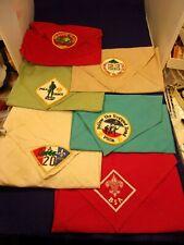 LOT OF 6 VTG BOY SCOUT HANDKERCHIEFS WITH 1960's PATCHES, PHILADELPHIA COUNCIL++