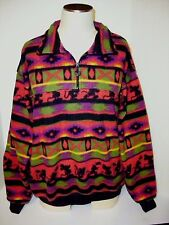 Women's Mickey & Co.Fleece Top Pullover Half Zip L Sleeve Size M 100 % Polyester