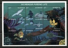 NICARAGUA 1996, MARINE LIFE, FISH,  Scott 2188, SHEET OF 9 DIFFERENT, MNH