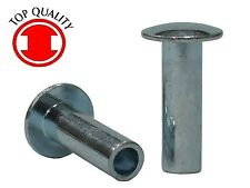 "Steel Zinc Truss Head Semi-tubular Rivets - 3/16""X3/8"" THTR316380 - 100pcs"