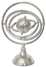 44 cm 3D Skulptur Globus Metall Weltkugel Erde Kunst Statue Sonnensystem Unruhe