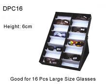 Vertical Sunglass Coverd 16 Big Pair Display Tray Standup Eyeglass Rack Portable