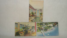 3 KEUKA HOTEL POSTCARDS AIRPLANE VIEW PORCH SUNROOM NEW OLD STOCK STEUBEN CO