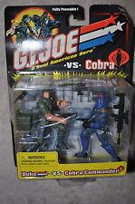 GI JOE VS COBRA DUKE VS COBRA COMMANDER FULLY POSEABLE W/ VHS VIDEO TAPE MOSC