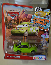 DISNEY PIXAR CARS NICK STICKERS RADIATOR SPRINGS ( TOYS R US) HTF NEW