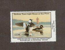 SC12 - South Carolina State Duck Stamp. MNH. OG.