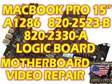 "APPLE MACBOOK PRO 2008 & 2009 A1286 15"" 820-2330-A 820-2523-B LOGIC BOARD REPAIR"
