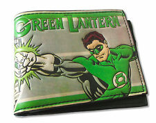 "GREEN LANTERN ""VINTAGE"" FAUX LEATHER BI-FOLD WALLET NEW OFFICIAL ADULT DC COMICS"
