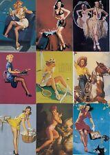 GIL ELVGREN PINUPS SERIES 2 1994 COMIC IMAGES PARTIAL BASE CARD SET OF 89/90 FA