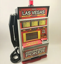Rare Vtg Radica Las Vegas Poker Slot Machine Coin Bank & Land Line Telephone