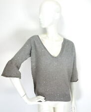 Brunello Cucinelli Cashmere Silk Sequins Embellished Two tones Jumper Sweater XL