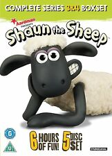Shaun das Schaf - Die komplette 3. & 4. Staffel [5x DVD] *NEU* Shaun The Sheep