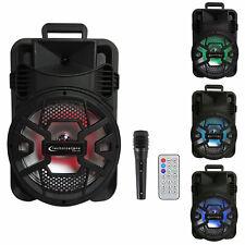 Technical Pro Spark12B 12� Rechargeable Karaoke Machine System w/Bluetooth+Mic