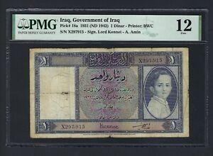 Iraq- One Dinar 1931(ND1942) P18a Fine