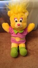 "Vintage 1985 Gummi Bears Sunni Yellow Plush Fisher Price 14"" Disney"