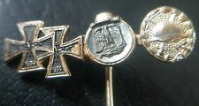 ✚7483✚ German post WW2 1957 pattern miniature pin badge Iron Cross Wound Badge