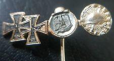 ✚7483✚ German post WW2 1957 pattern miniature pin badge Iron Cross Wound Badge