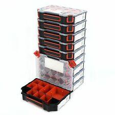 10x Sortierbox TAGER mit Behältern Sortimentskasten Kleinteilemagazin Organizer