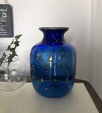 Glasvase Glaskunst Vase edel blau Gral Glashütte Dürnau? oder Eisch? Pfauenauge